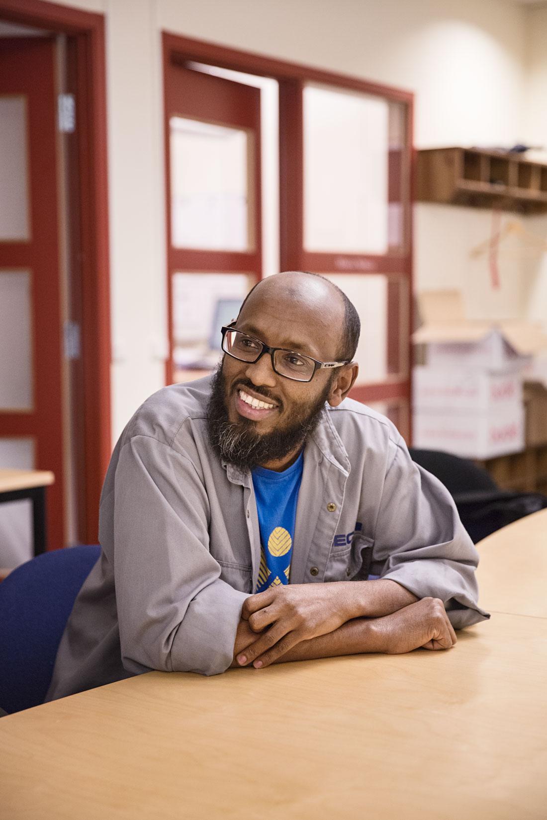 Liibaan Mohamod flyddetill Sverige från Somalia 1992. Foto: EBBA OLSSON WIKDAHL