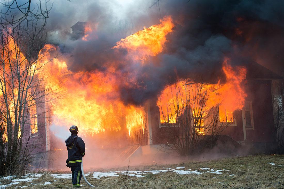 brand i trähus