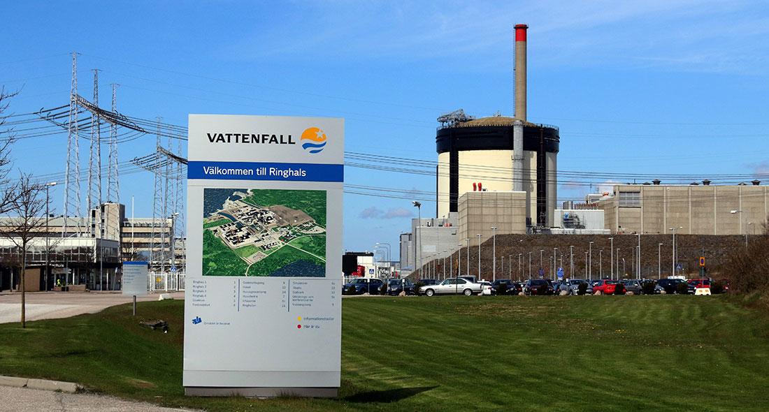 Reaktor 1 och 2 på Ringhals kärnkraftverk utanför Varberg