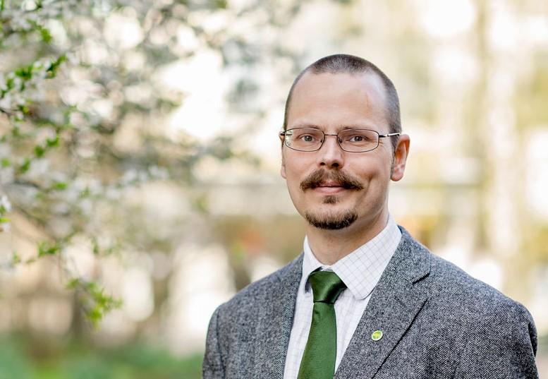 Max Andersson, EU-parlamentariker för Miljöpartiet de gröna. Foto: Catharina Fyrberg