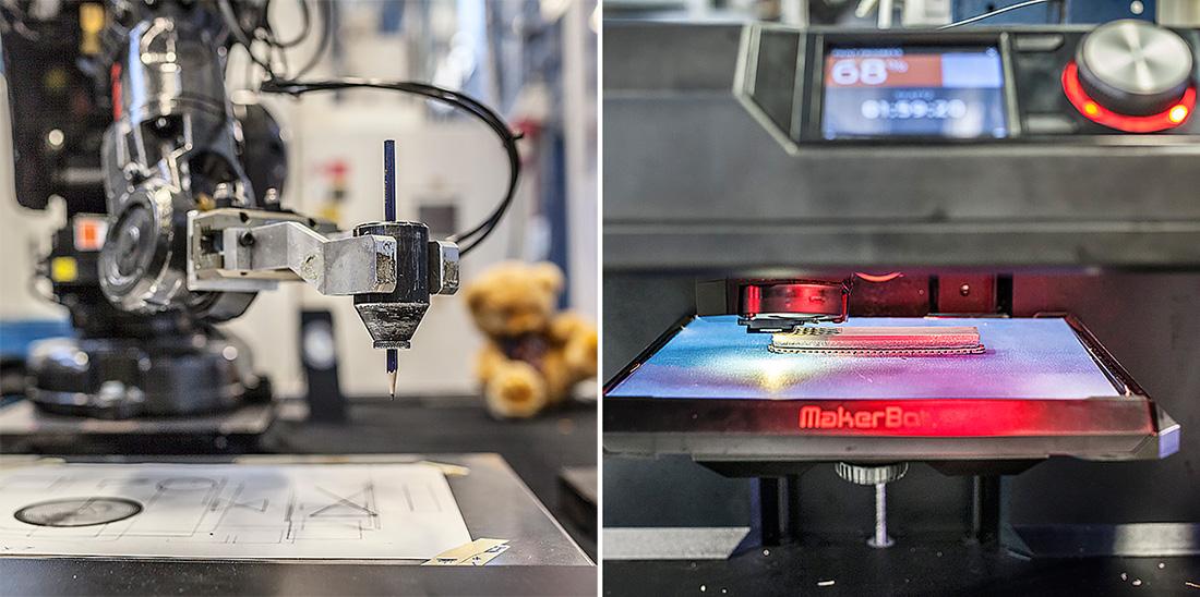 Mälardalens Tekniska Gymnasium har gott om resurser och har tillgång till den senaste tekniken i form av 3D-skrivare och CNC-maskiner. Foto: Sara Kroon.