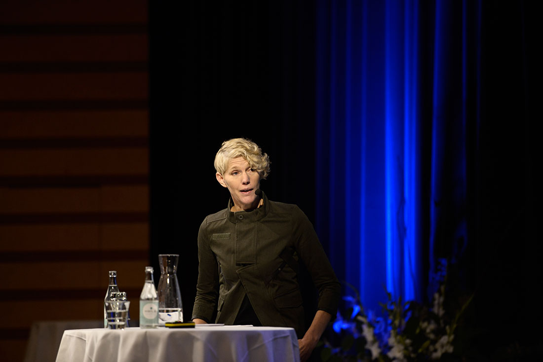 """""""Komplexiteten som föregår migration är en av huvudorsakerna till varför prognoser inte låter sig göras. Det finns människor som stannar kvar trots de mest fruktansvärda påfrestningarna."""" Malin Mobjörk, forskare vid Stockholm International Peace Research Institute Foto: Madeleine Andersson."""