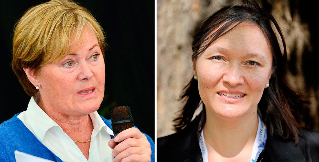 Anitra Steen och Sylvia Schwaag Serger. Foto: TT