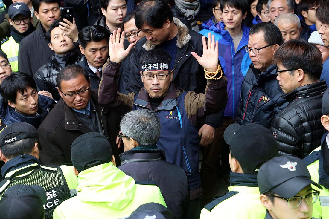 Han Sang-gyun, ordföranden för sydkoreanska landsorganisationen dömdes i somras till fem års fängelse. Foto: TT