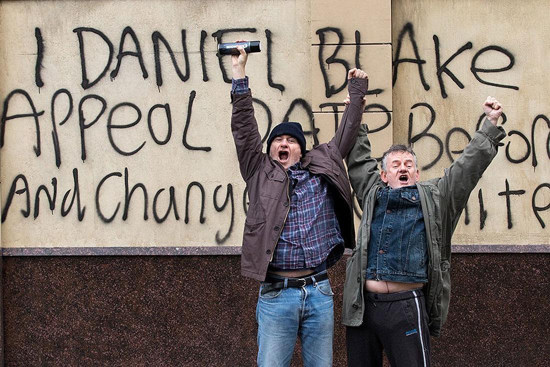 Jag, Daniel Blake hade biopremiär i Sverige den 9 december och handlar om en sjukskriven snickare som hamnar i en byråkratisk karusell kring sin arbetsförmåga.