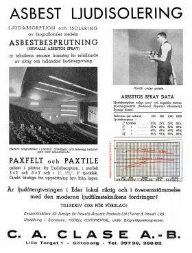 Annons för asbest, som sågs som ett mirakelmaterial innan riskerna blev kända.