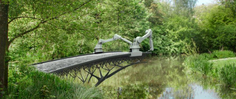 Den självutskrivande bron i Amsterdam. Ett projekt av det Nederländska företaget 3DMX. Foto: Pressbild