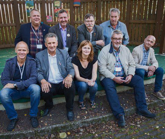 Från sittande förbundsstyrelsen kommer Mikael Lilja, Matts Jutteström (bakre raden till vänster) och Peter Östergren (främre raden längst till höger) ställa upp för omval tillsammans med Johan Viklund och Anders Petterson (båda ej med på bild). Foto: EBBA OLSSON WIKDAHL