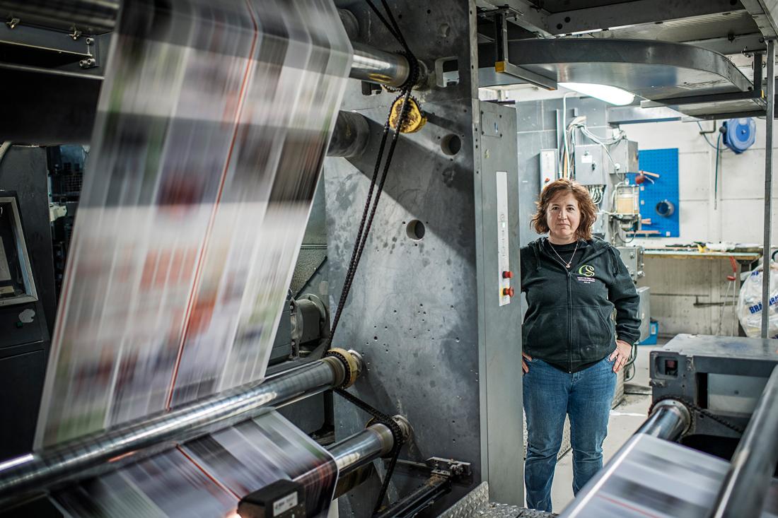 """Första gången Camilla Lundh träffade de nya ägarna fick hon ett jättebra intryck. """"De hade en plan för oss. De ville köra verksamheten vidare."""" Foto: David Lundmark"""