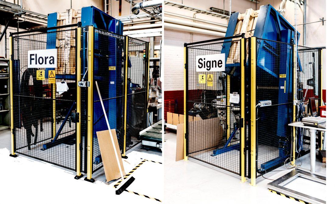 En annan viktig förusättning för att ta hem jobb: automation, typ monteringscellerna Flora och Signe. Foto: David Lundmark