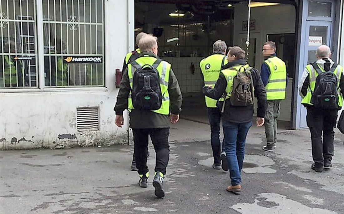 Norska myndigheter är ute varje dag för att störa de kriminella.