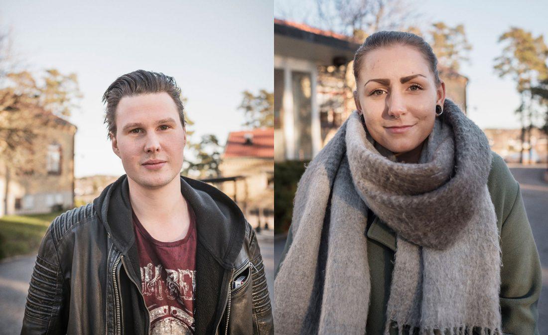 Charleen Danielsen från Mölnlycke (till vänster) och Patrik Krantz (höger) från Iggesund var två av deltagarna. Foto: Adam Daver