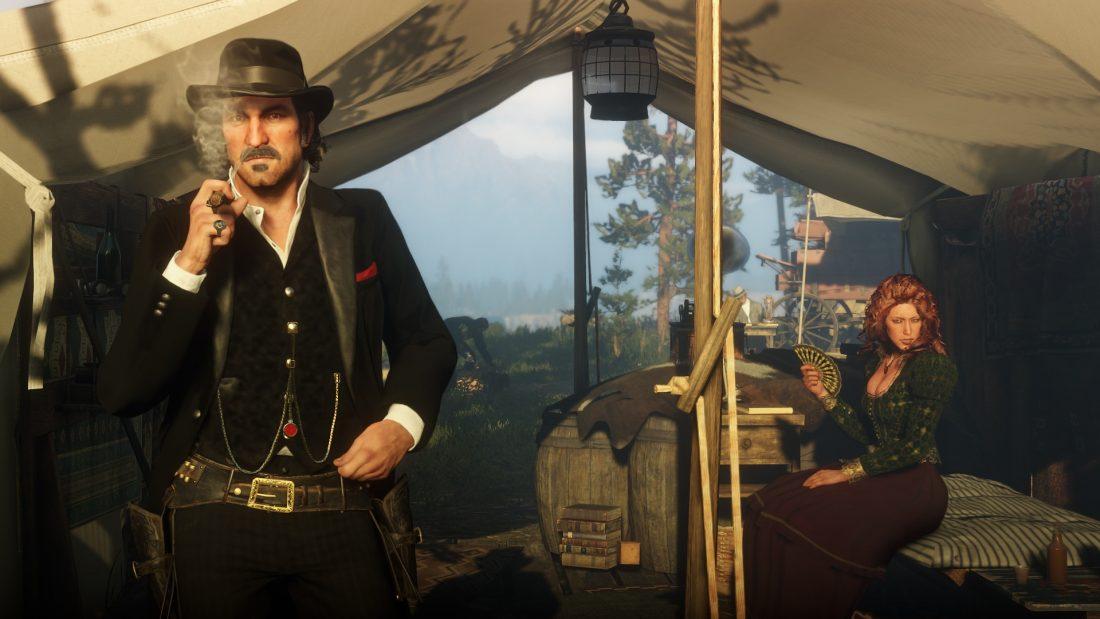 Rökpaus i Red Dead Redemption 2.