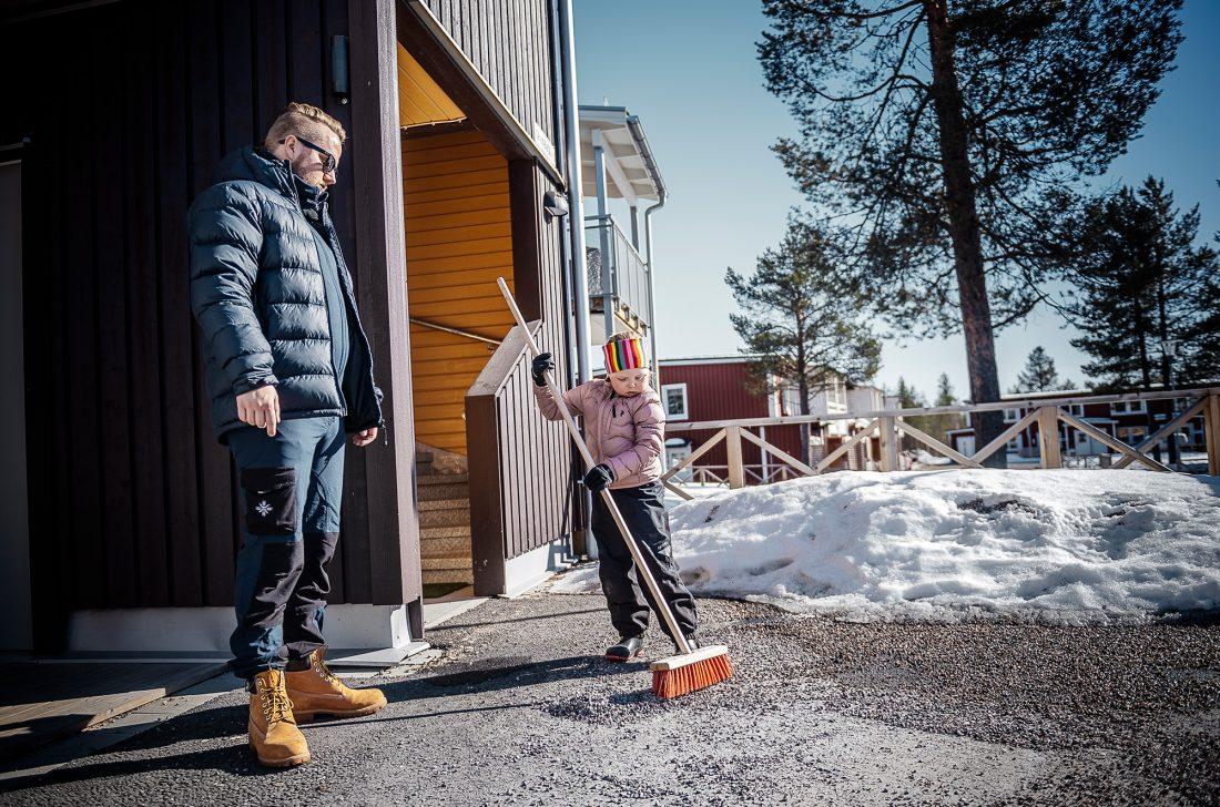 Marcus Svanberg och Elins dotter Freja.