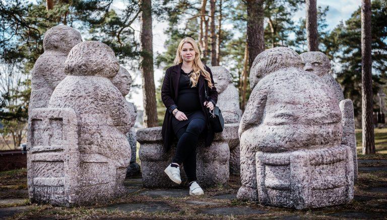 Elin Näslund på Runö