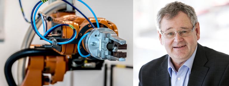 Robotarm samt Ove Leichsenring