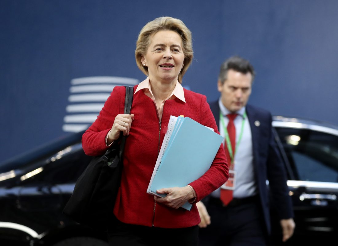 EU-kommissionens nya ordförande Ursula von der Leyen. Foto: Ludovic Marin, AP