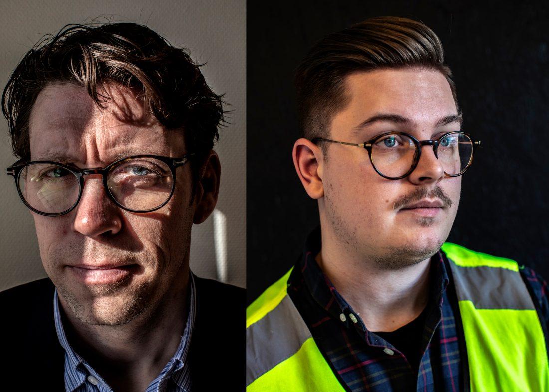 Jonas Hernborg, vd och Jesper Johansson, huvudskyddsombud på Elitfönster. Foto: Åke Ericson