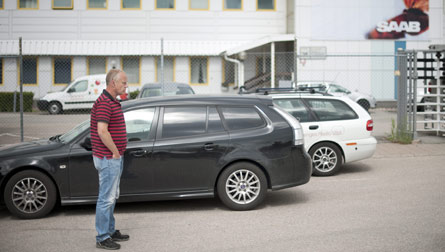 Håkan Skött, IF Metalls klubbordförande på Saab i Trollhättan, hoppas att produktionen kan komma i gång snart. Foto: BJÖRN LARSSON ROSVALL