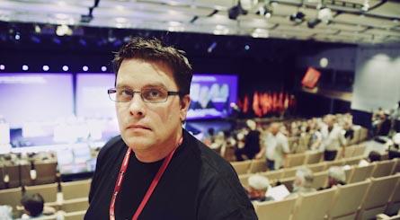 Johan Järvklo från Södertälje var en av dem som stred för att medlemmarna ska få mer makt över sin fritid.  Foto: VERONIKA LJUNG-NIELSEN