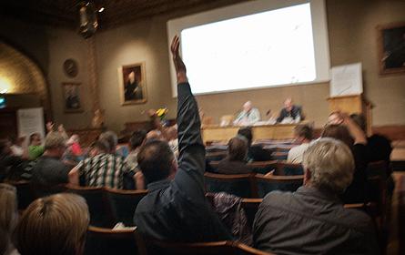 I dag beslöt Pappers extra förbundsmöte att ställa sig bakom den kravlista som på väsentliga punkter backar upp LO:s krav i den kommande avtalsrörelsen. Foto: ALEXANDER DONKA