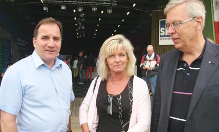 IF Metalls ordförande Stefan Löfven, Unionens ordförande Cecilia Fahlberg och riksdagsledamoten Mats Odell (KD), är rörande överens om industrins stora betydelse för Sveriges framtid. Foto: HANS LARSSON