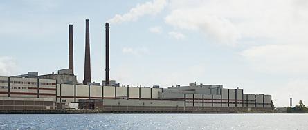 Ortvikens pappersbruk i Sundsvall. Foto: SCA