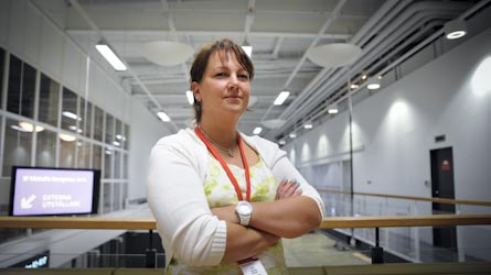 Kongressdebutanten Claudia Nilsson var hård i sin kritik av de gemensamma avtalskommentarerna vid IF Metalls kongress. Foto: VERONIKA LJUNG-NIELSEN
