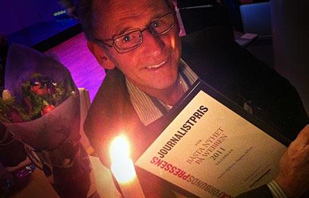 Anders Elghorn slutar på topp. Två veckor före pension belönades han för sina nyhetsartiklar om Ikea-ägda Swedwoods vägran att släppa in facket vid fabriken i USA. Foto: ISAK KRANTZ