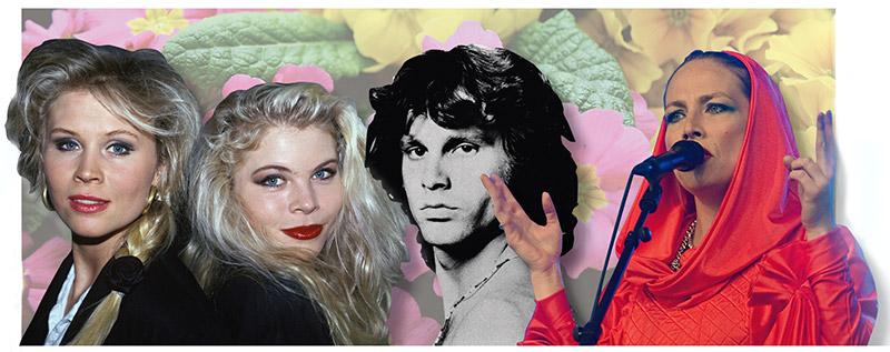 Lili och Susie, Jim Morrison och Jenny Wilson närmar sig på olika sätt moderskapet i sina låtar. Foto: SCANPIX, Montage DA