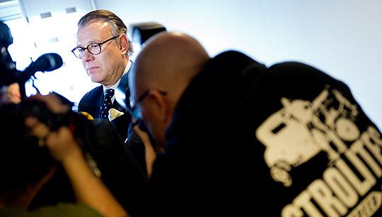 Konkursförvaltaren Hans Bergqvist under edgångssammanträde i Vänersborgs tingsrätt på måndagen. Foto: BJÖRN LARSSON ROSVALL