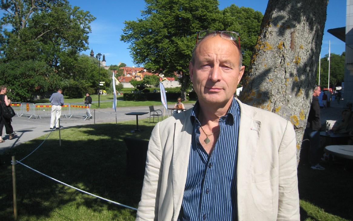 IF Metalls ombudsman i Trollhättan, Leif Håkansson, berättade vid ett seminarium i Almedalen om arbetet med omställning för de arbetslösa Saab-arbetarna. Foto: HANS LARSSON