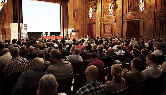 IF Metall samlat för avtalsråd i Konserthuset i Stockholm. Foto: OLA HÅKANSSON