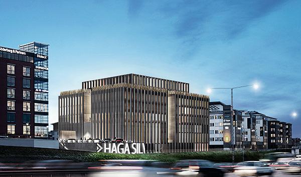 """Peabs kontorsbygge """"Haga Silva"""" vid E4:an norr om Stockholm är ett exempel på en byggnad som kunde fått en stomme i massiv trä. Nu blir det i stället stål och betong."""