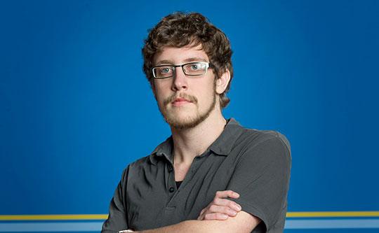Patrik Fredriksson ska slåss om segern i klassen grafisk design i Yrkes-VM. Foto: DAVID BICHO