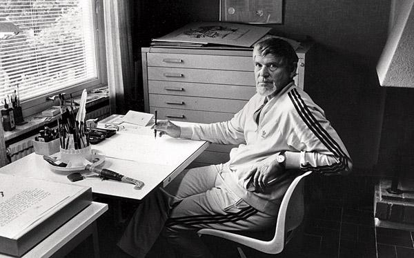 Ewert Karlsson var under flera år en återkommande bildkrönikör i Dagens Arbetes föregångare Metallarbetaren. Foto: TT NYHETSBYRÅN