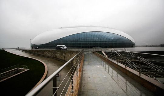Bolsjoj isstadion, en blivande multiarena i OS-staden Sotji. Foto: IGOR YAKUNI