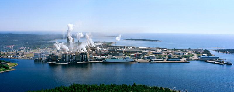Ångermanländska Husum är det bruk som har den största Pappersavdelningen i landet. Foto: PER ÅGREN