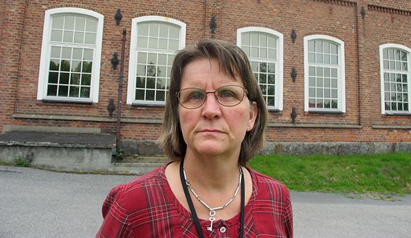 """Ingrid Hanke är verkstadsklubbens ordförande på Element Six. """"Får företaget verkligen bära sig åt på det här viset?, undrar hon. Foto: HARALD GATU"""